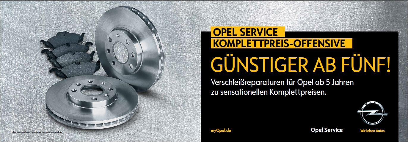 Opel Service Komplettpreis Garantie