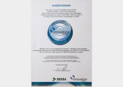 Auszeichnung DEKRA & Innovation Group