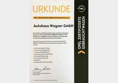 Auszeichnung: Opel zertifizierter Gebrauchtwagen-Partner